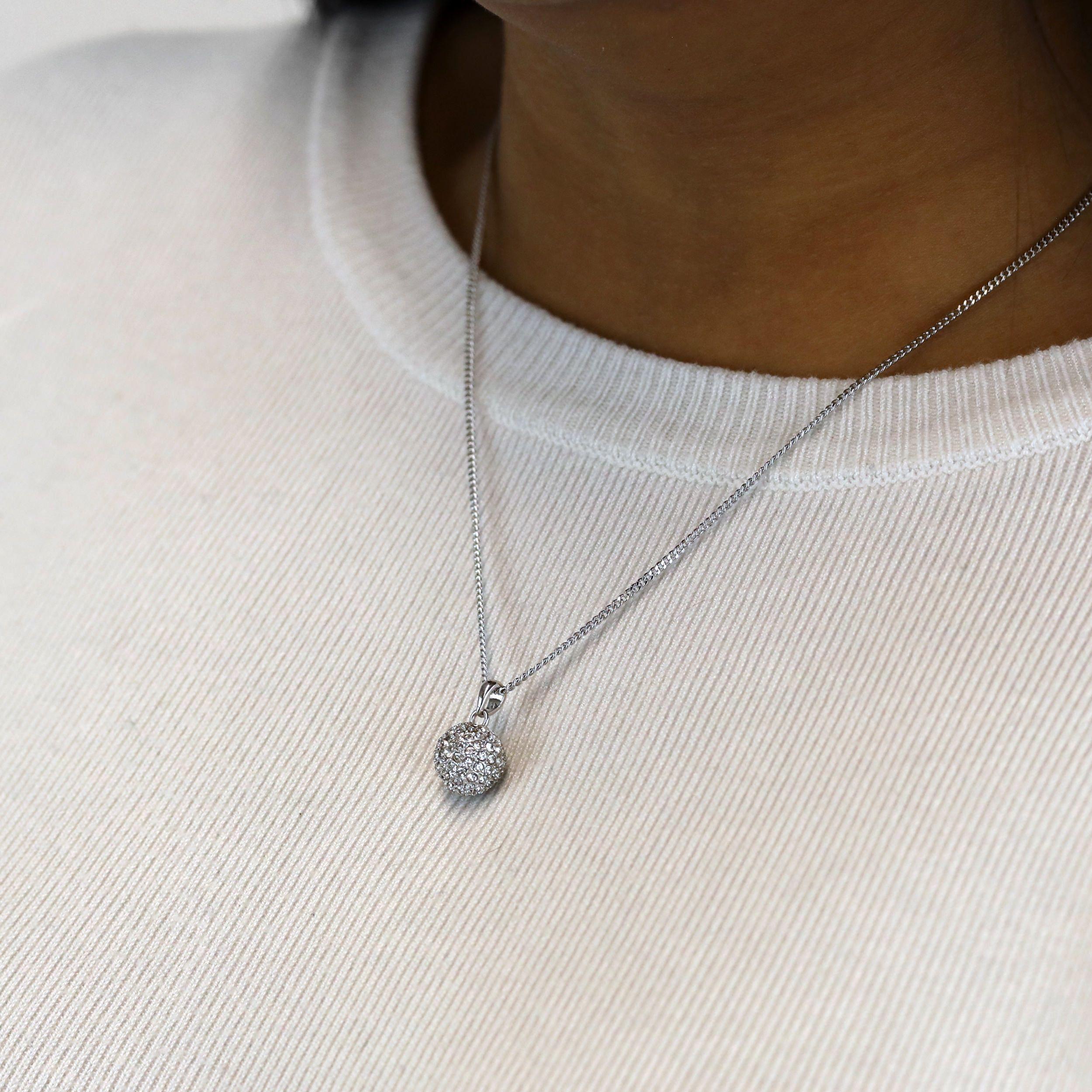 Classic Silver Snowball Pendant