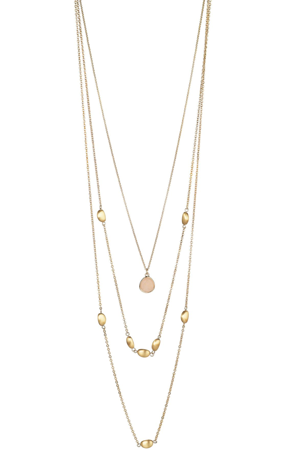 Buckley London Rose Quartz Multi-Row Necklace