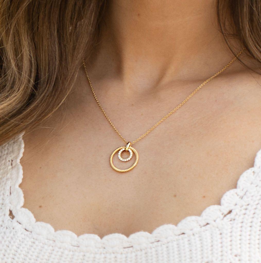 Cleo Double Ring Pendant