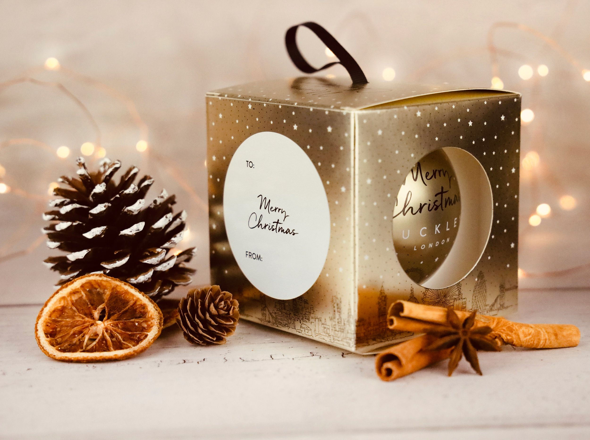 Buckley London Christmas Gift Bauble - Pendant & Earring Set