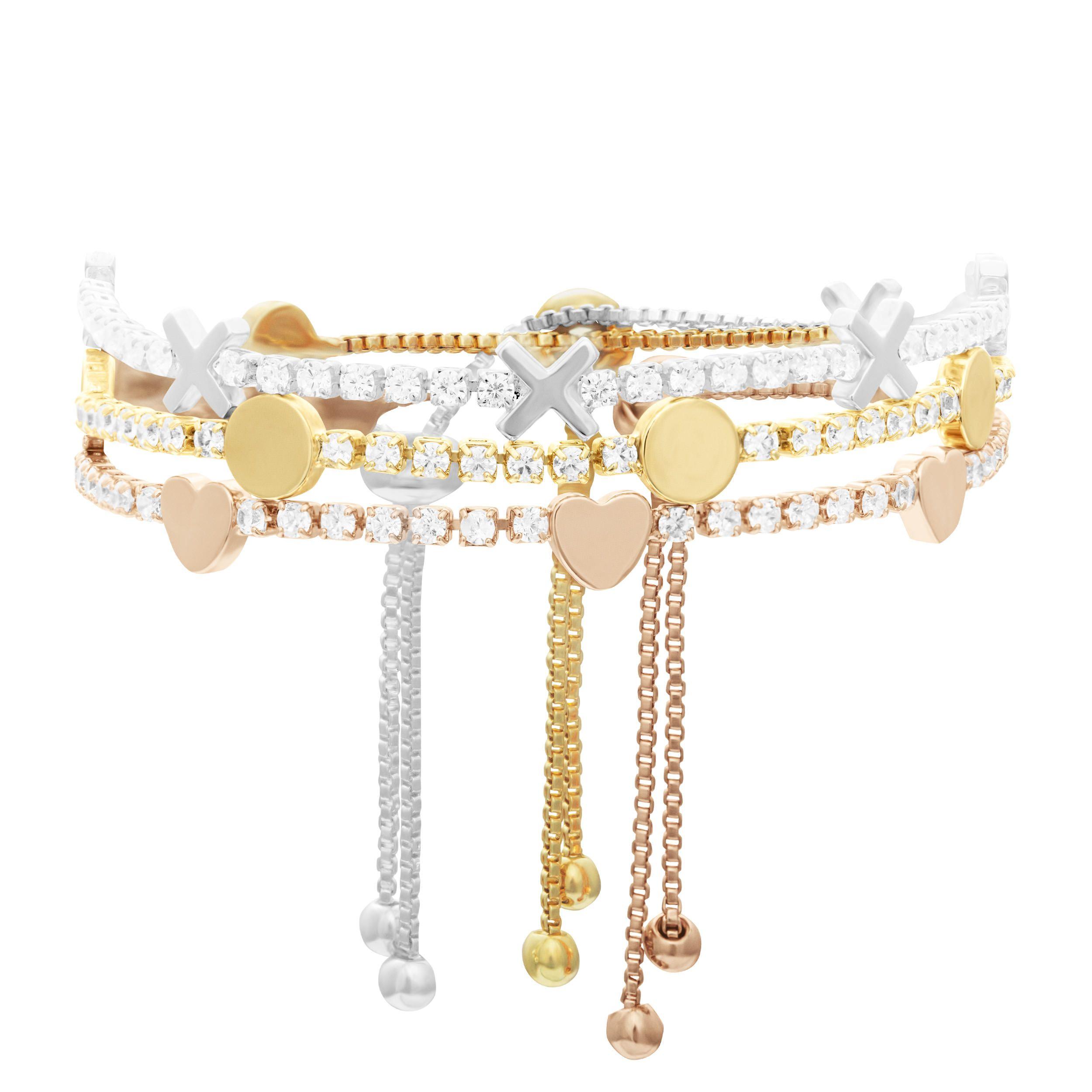 Buckley London Hugs & Kisses '♥' Bracelet - Rose Gold