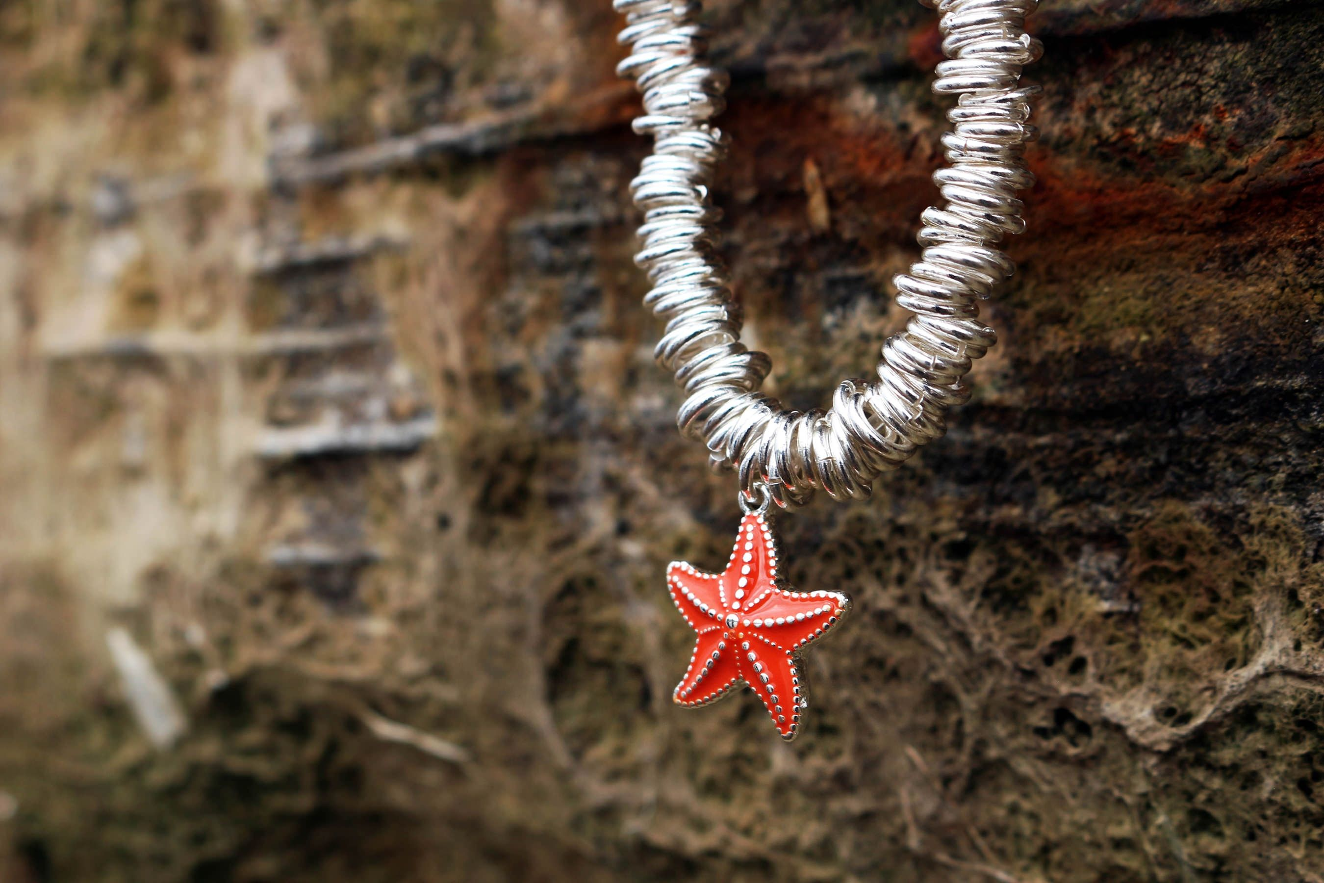 Buckley London Starfish Sea Life Charm Candy Bracelet