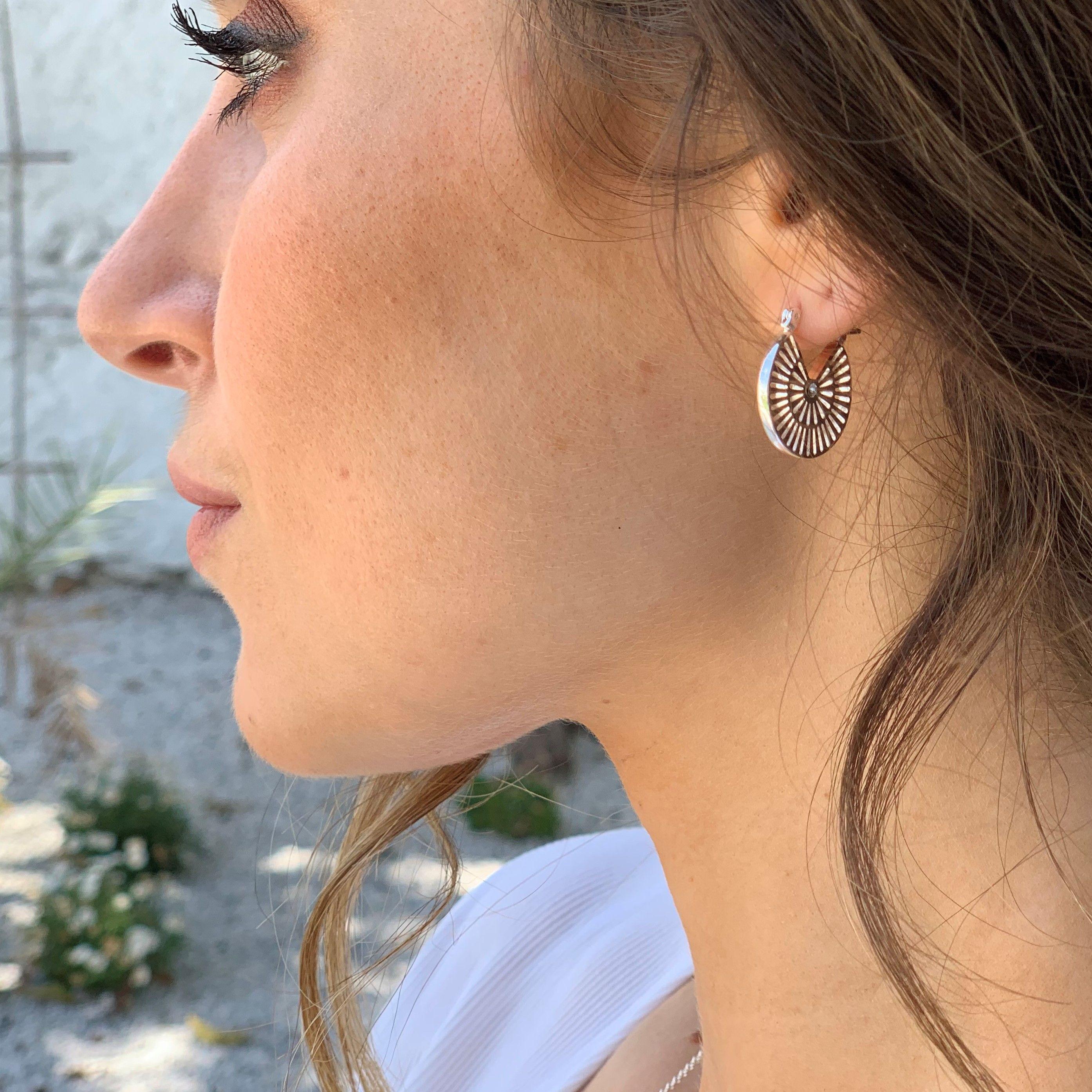 Buckley London Mayan Circle Earrings