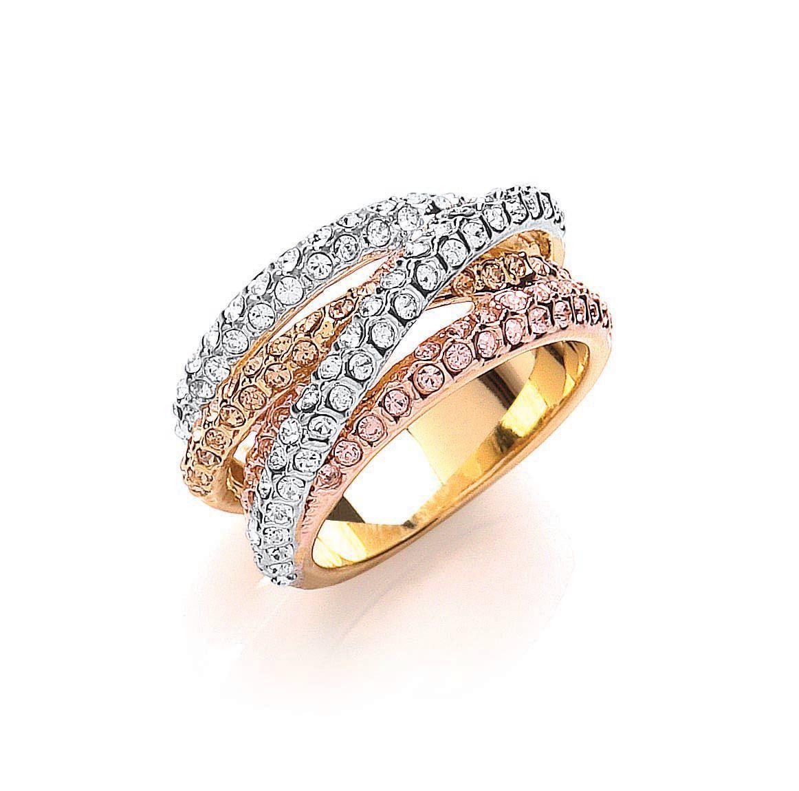 Buckley London Russian Trio Jewellery Sparkle Strands Ring