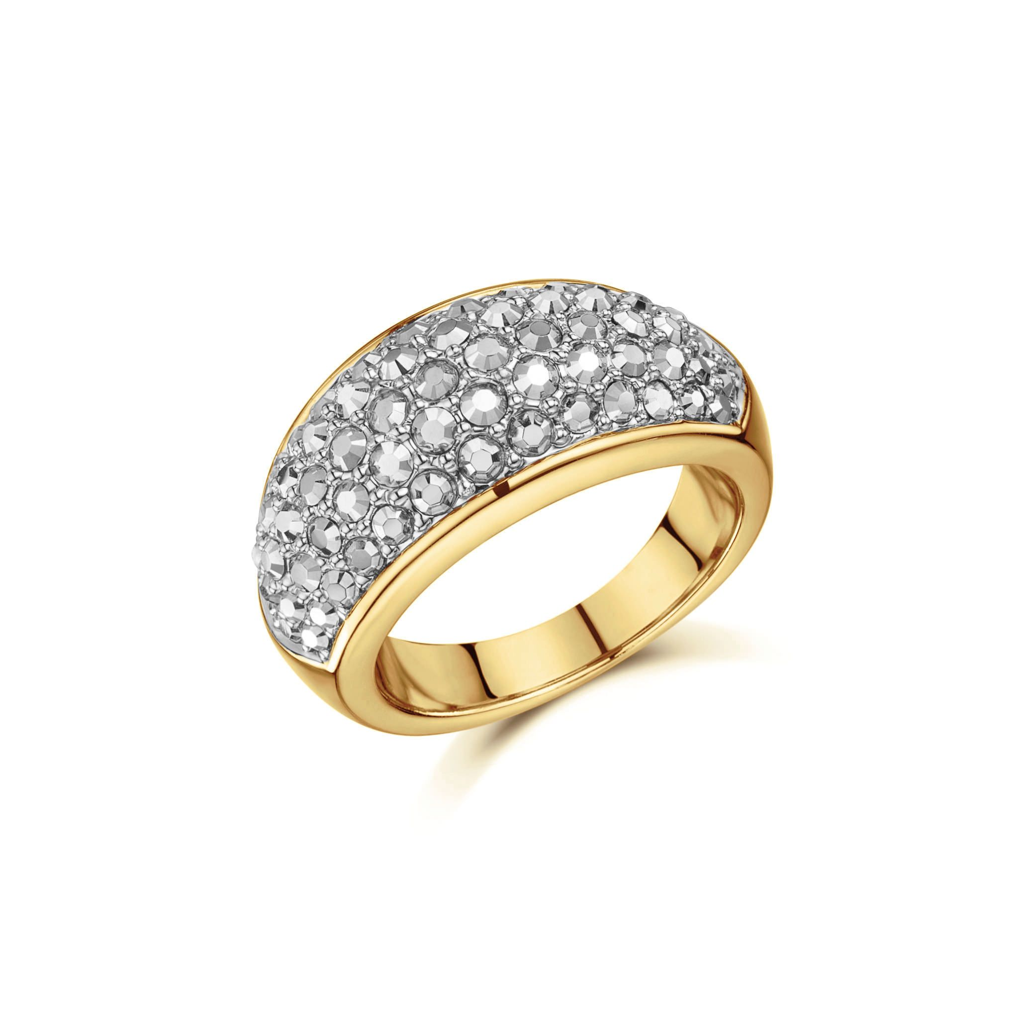 Buckley London Gold Pavé Dome Ring