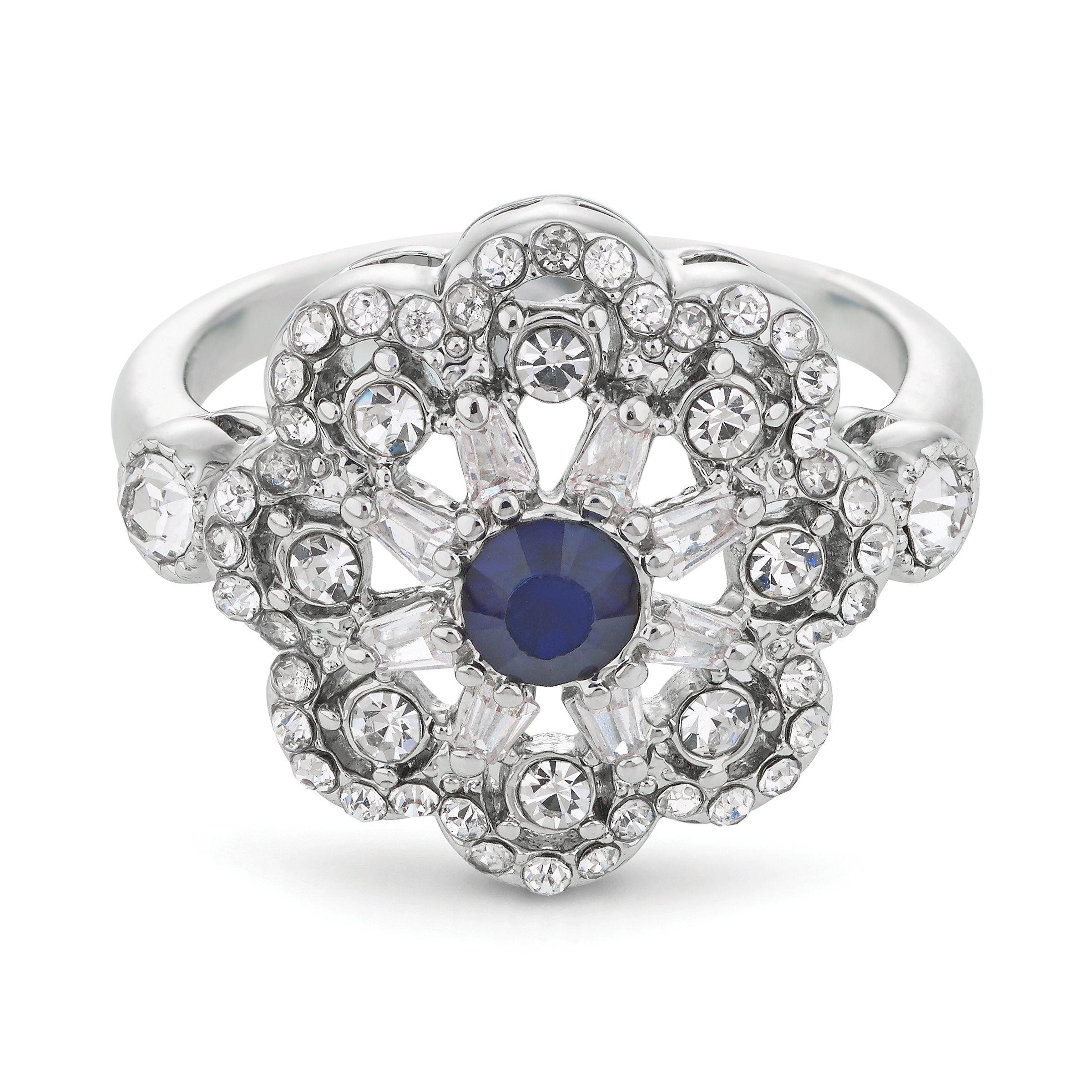 Buckley London Vintage Style Flower Ring
