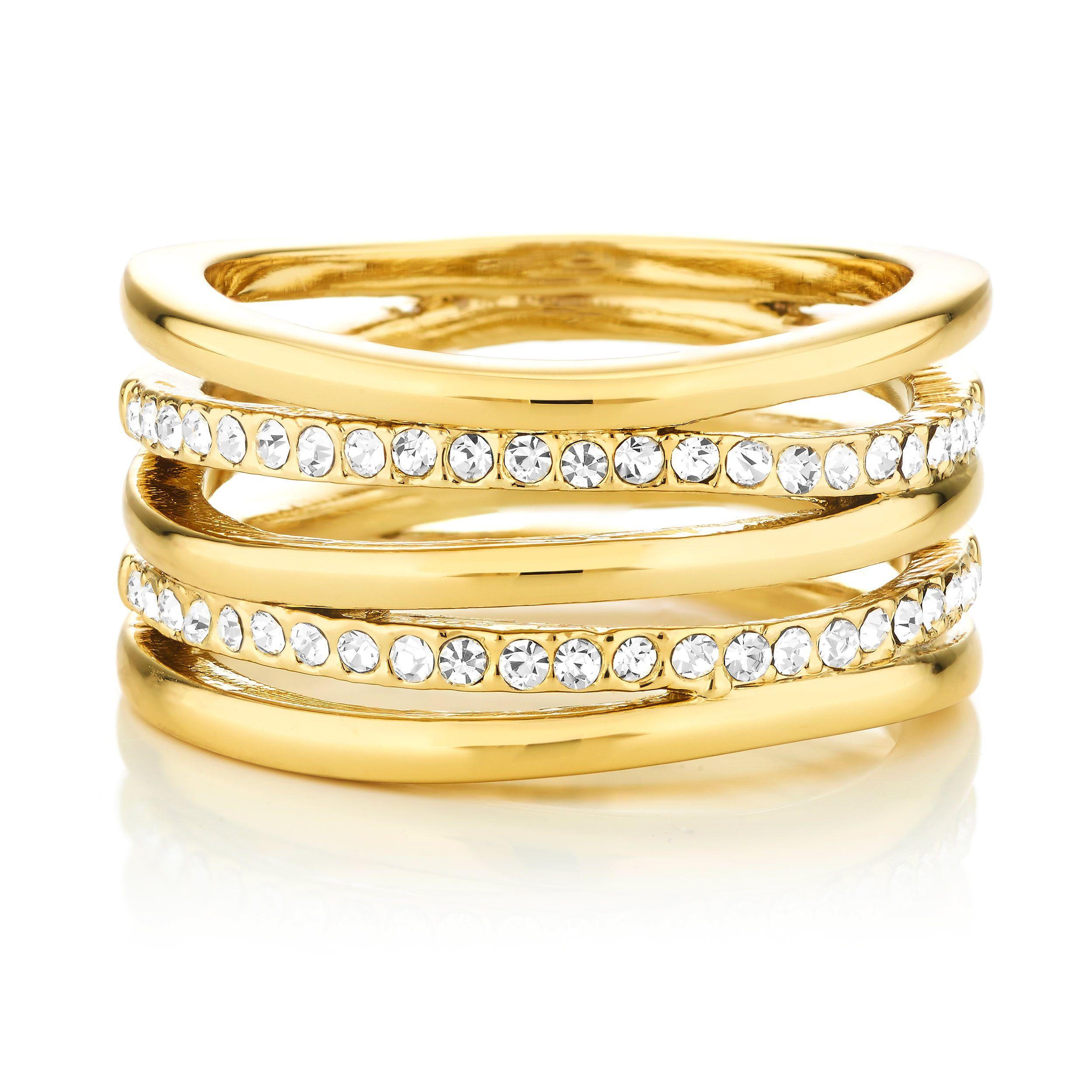 Buckley London Gold Ripple Ring