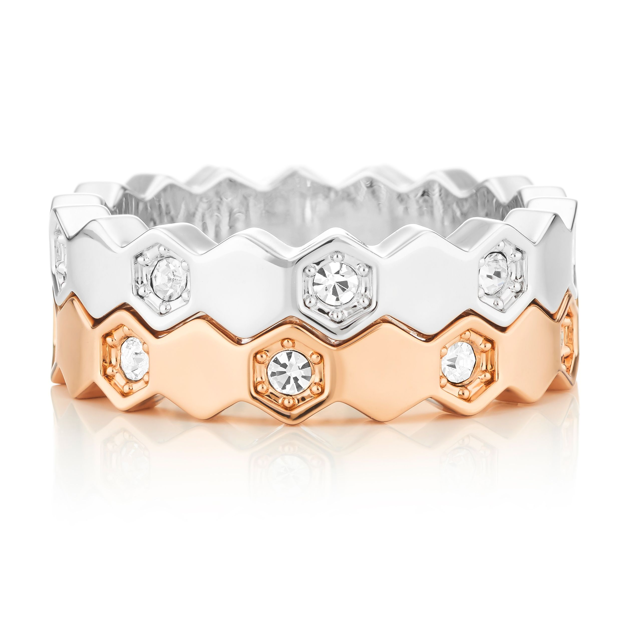 Buckley London Hexagonal Stacking Rings Duo