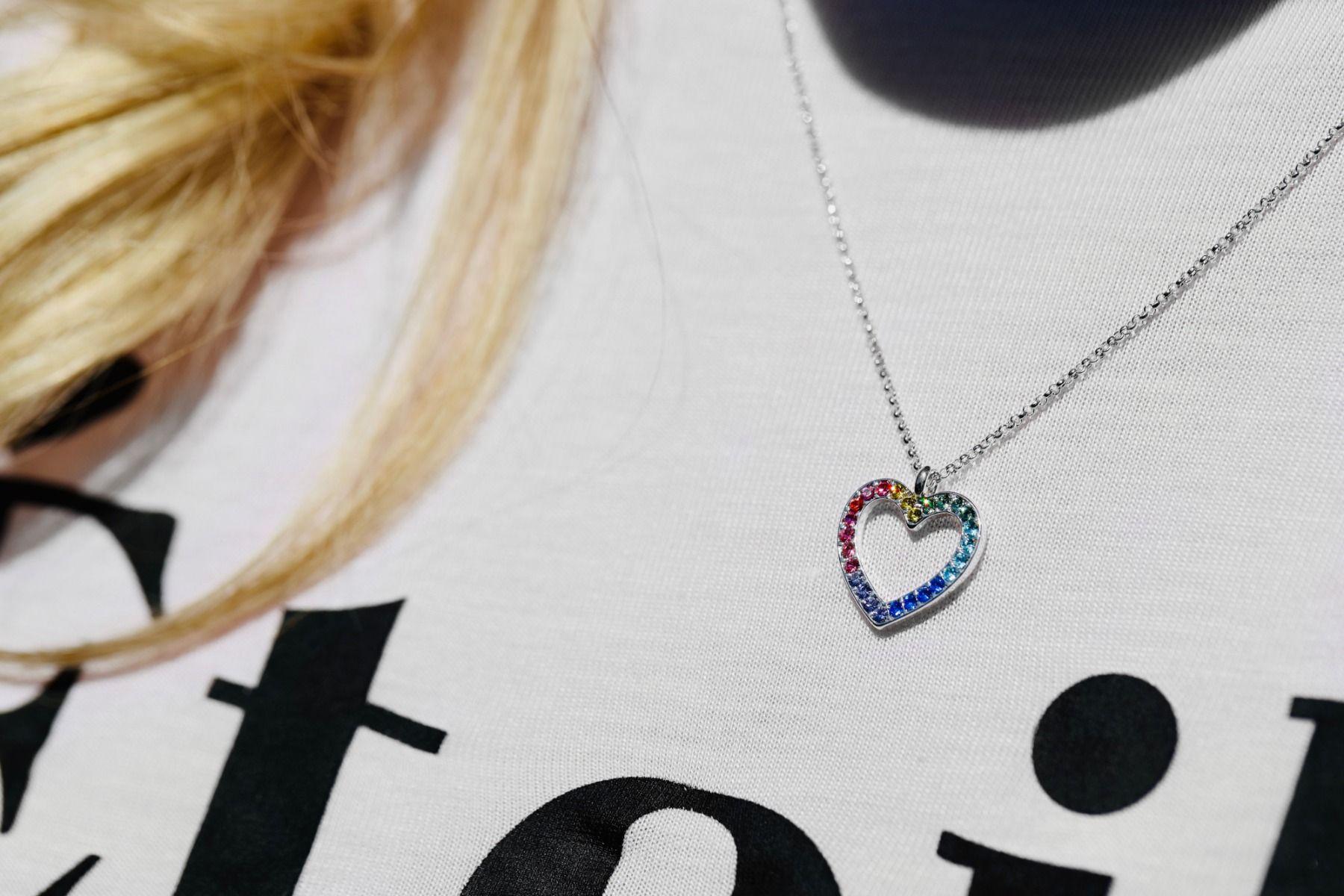 Buckley London Rainbow Heart Jewellery Set