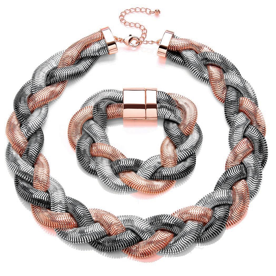 Buckley London Plaited Necklace & Bracelet Set
