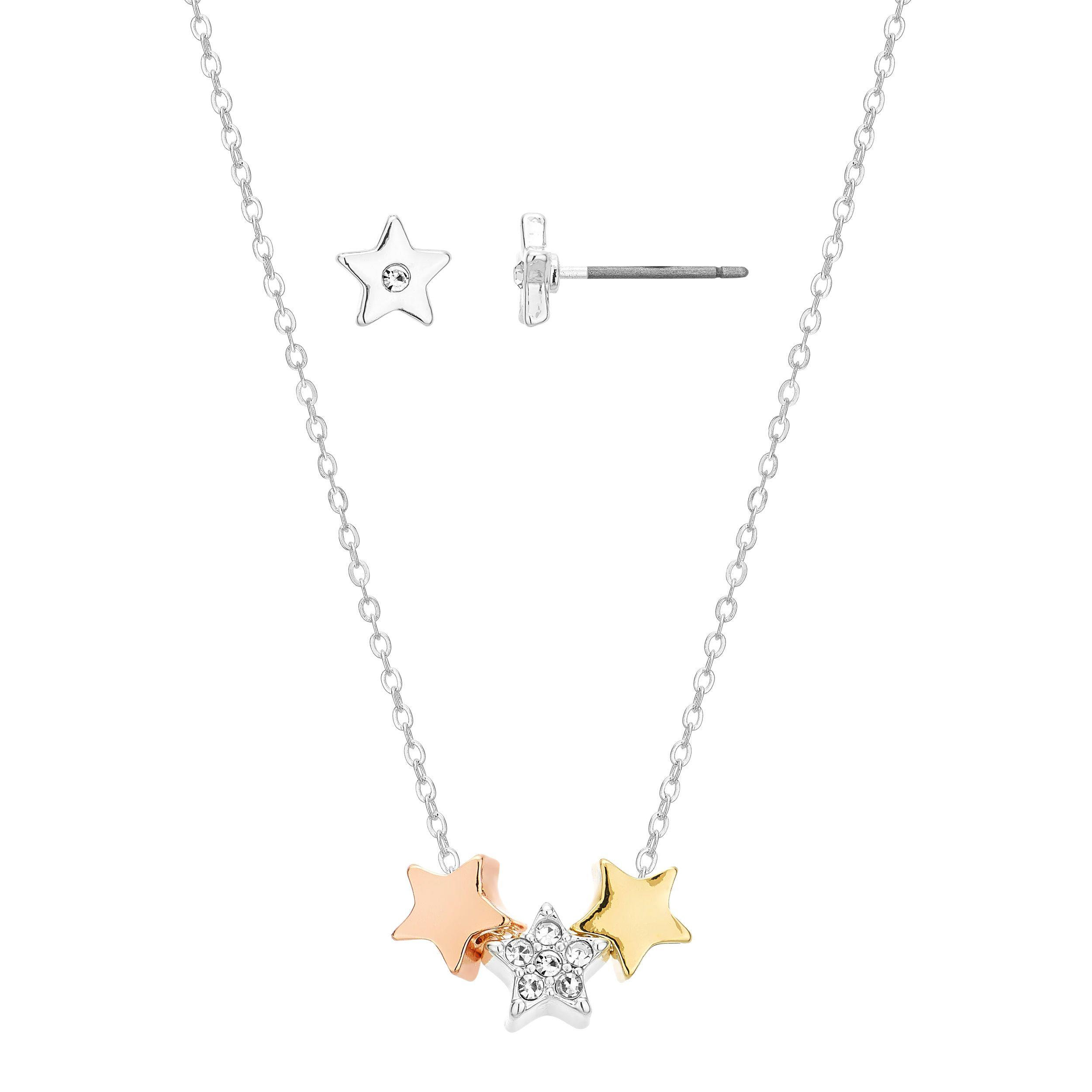 Buckley London Starburst Pendant & Earring Set