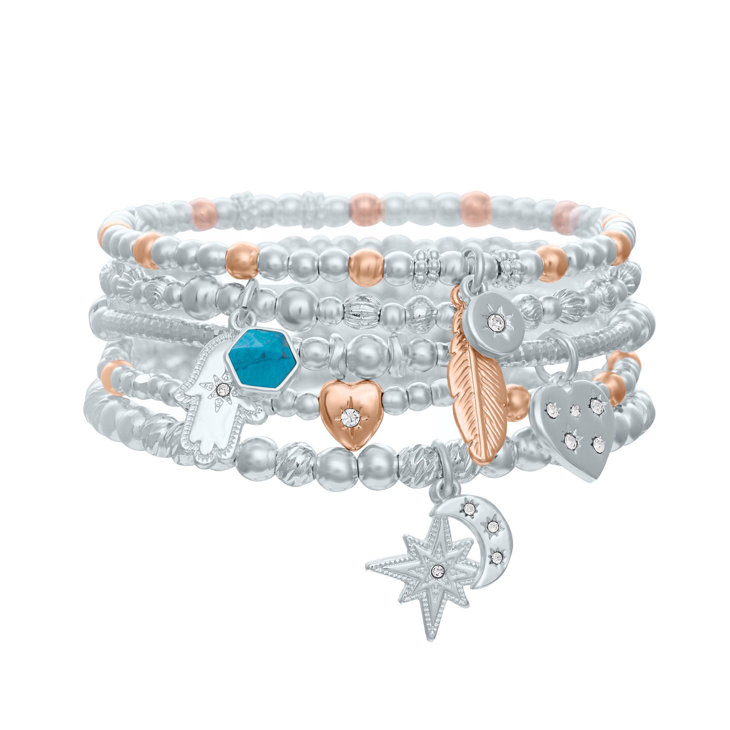 Buckley London Crystal Heart Wish Bracelet