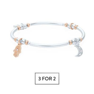 Buckley London Multi-Charm Wish Bracelet