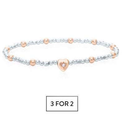 Buckley London Rose Gold Heart Wish Bracelet