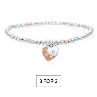 Buckley London Heart Duo Wish Bracelet