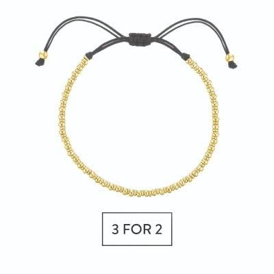 Buckley London Men's Logan Beaded Bracelet - Gold