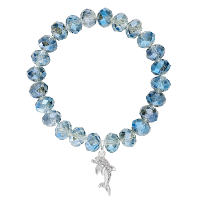 Dolphin Glass Bead Bracelet