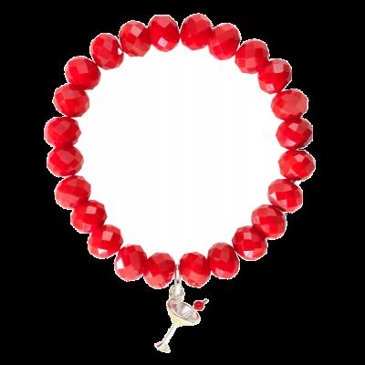 Cocktail Glass Bead Bracelet