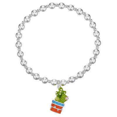 Buckley London Cactus Beaded Mexican Charm Bracelet
