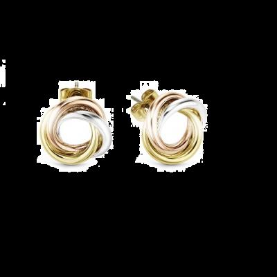 Russian Trio Knot Earrings