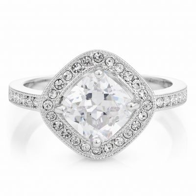 Buckley London Classic Cushion-Cut Ring