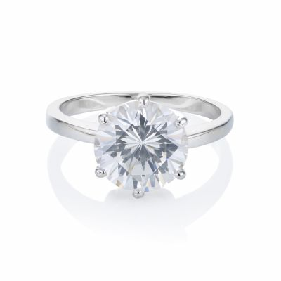 Buckley London Classic Six Claw Solitaire Ring