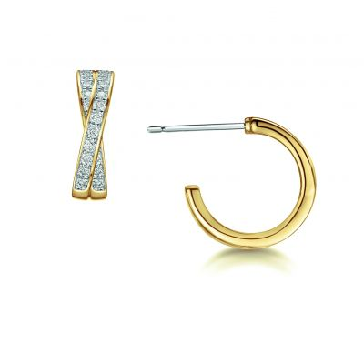 Buckley London Classic Crossover Hoop Earrings