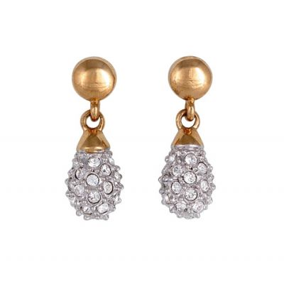Buckley London Two Tone Pavé Drop Earrings