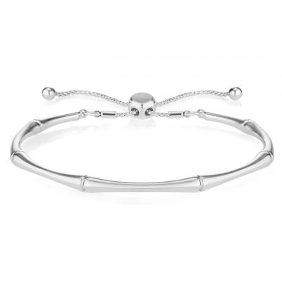 Buckley London Bamboo Bracelet - Silver