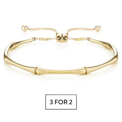 Buckley London Bamboo Bracelet - Gold
