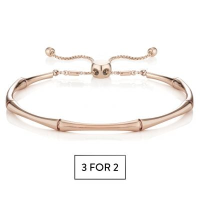 Buckley London Bamboo Bracelet - Rose Gold