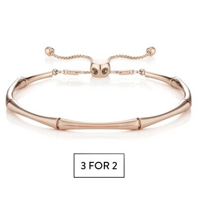 Buckley London Bamboo Bracelet - Rose Gold