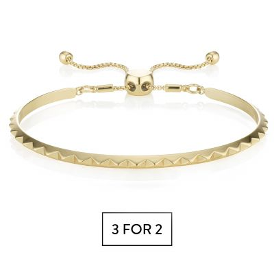Buckley London Pyramid Bracelet - Gold