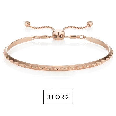 Buckley London Pyramid Bracelet - Rose Gold