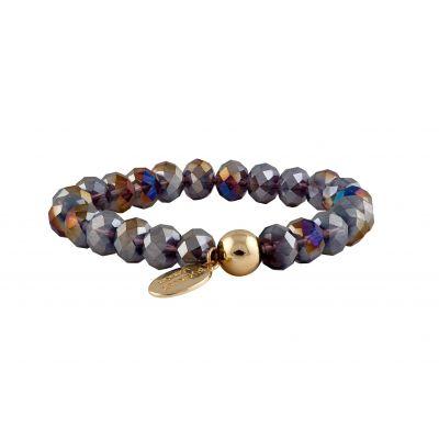Carousel Sparkle Bead Bracelets -Amethyst (with Aurora Borealis coating)