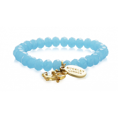 Anchor Turquoise Charm Bracelet