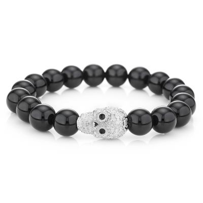 Buckley London Mens Calavera Silver Skull Bracelet