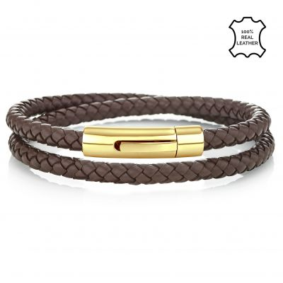 Buckley London Men's Barbican Wrap Around Bracelet - Gold