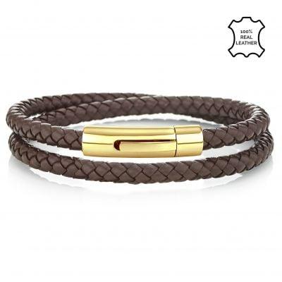 Buckley London Men's Barbican Wrap Around Bracelet - Gold