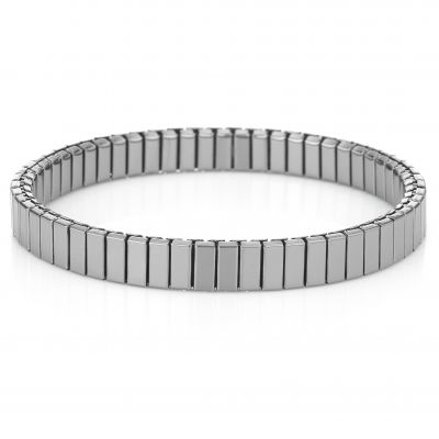 Buckley London Men's Logan Stretch Cuff - Rhodium