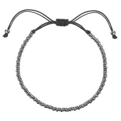 Buckley London Men's Logan Beaded Bracelet - Hematite
