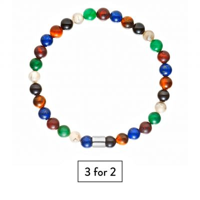 Buckley London For Him Novello Mixed Bead Bracelet