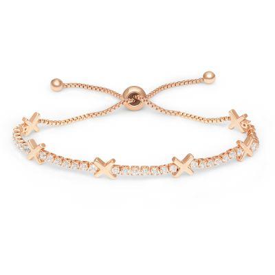 Buckley London Hugs & Kisses 'X' Bracelet - Rose Gold