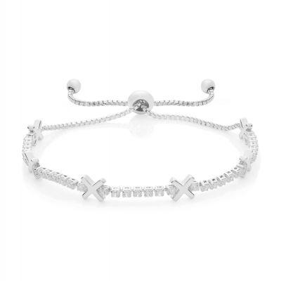 Buckley London Hugs & Kisses 'X' Bracelet - Silver