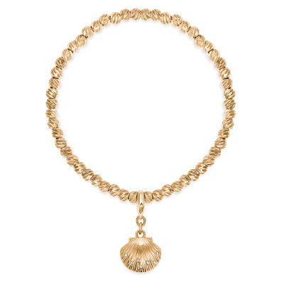 Golden Beach Shell Charm Bracelet