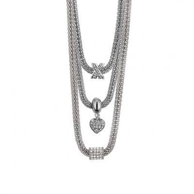 XO♥ Mesh Necklaces - Rhodium