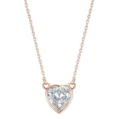 Buckley London Rose Gold Heart Pendant