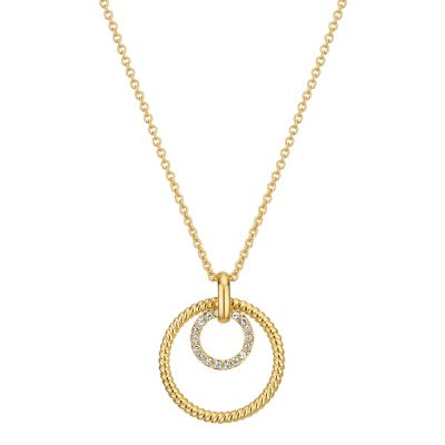 Buckley London Cleo Double Ring Pendant