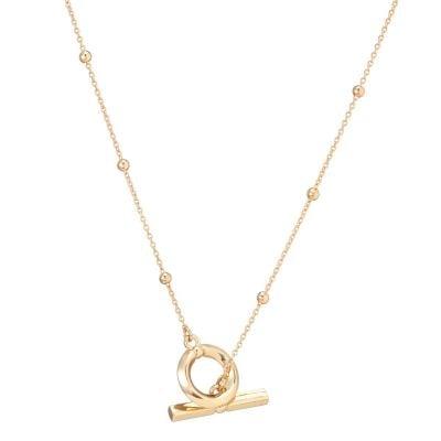 Aria Loop T Bar Gold Pendant