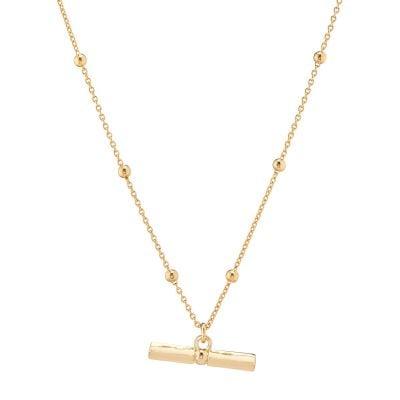 Aria T Bar Gold Pendant
